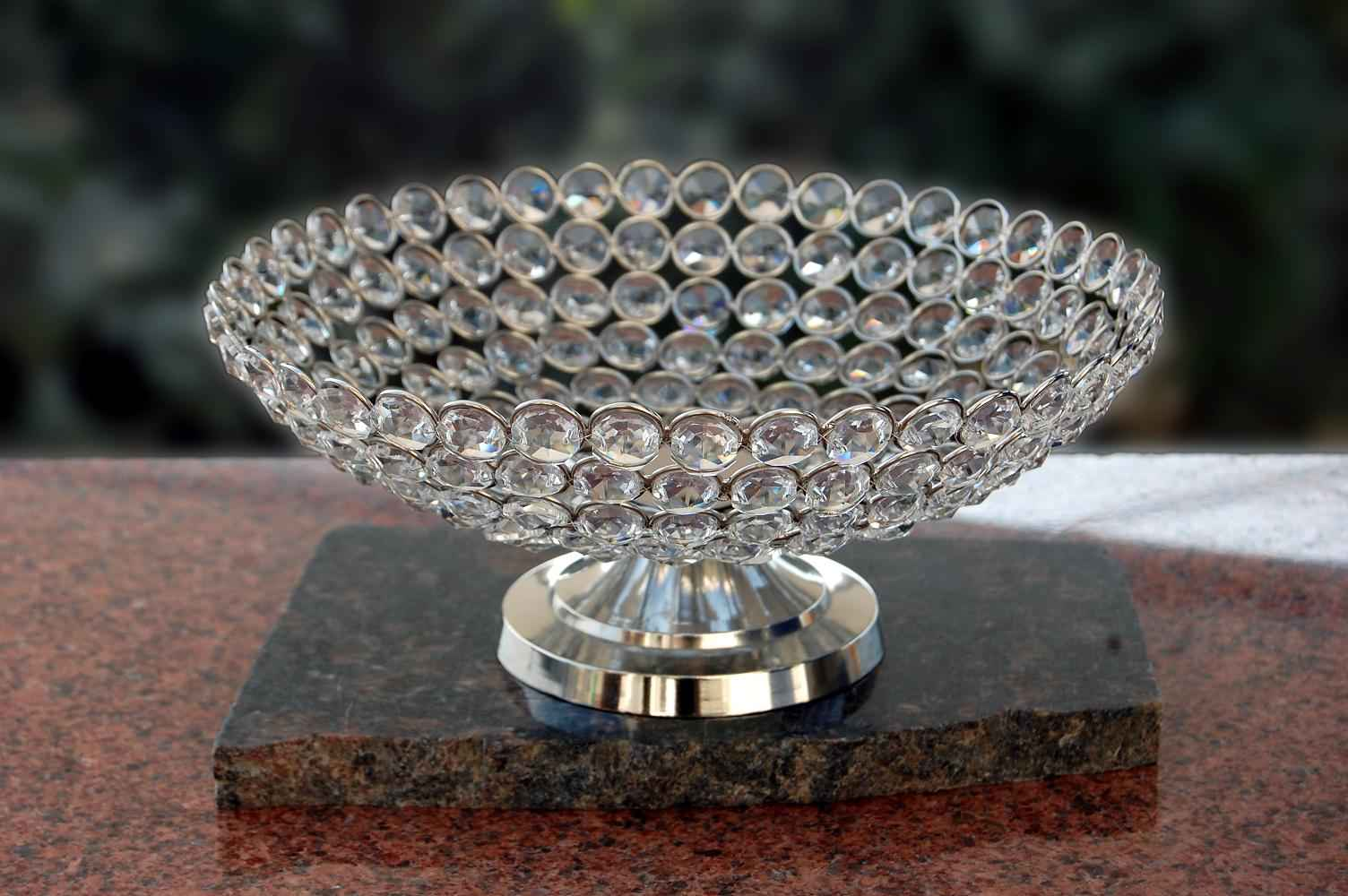 Crystal Bowl with Stand